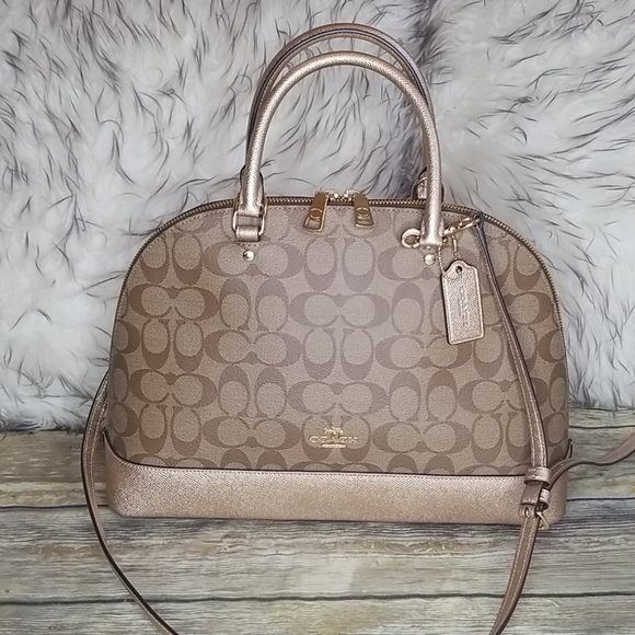 Coach Handbags - COACH SIGNATURE DOME BAG